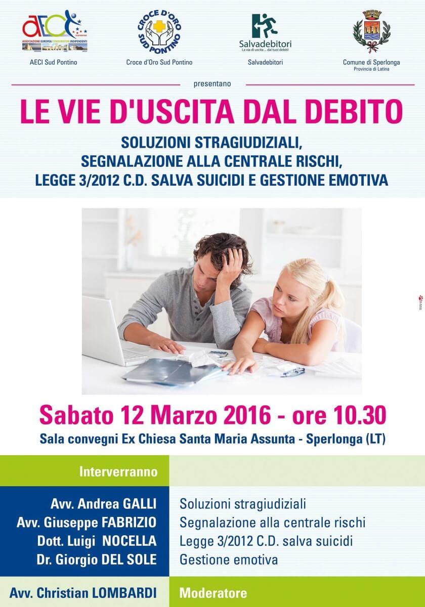 Le vie d'uscita dal debito Le vie d'uscita dal debito Evento Sperlonga